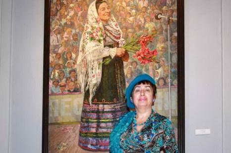 Портрет Руслановой на выставке «За железным занавесом». Фото: Ульяна Ким/Великая Эпоха (The Epoch Times)