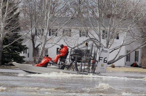 Наводнение в штате  Северная Дакота, США. Фоторепортаж. Фото:  Scott Olson/Getty Images