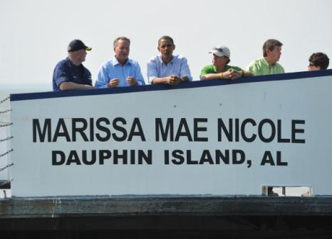 Барак Обама  посешает регион экологической катастрофы, где в Мексиканский залив вытекает нефть. Фоторепортаж. Фото: MANDEL NGAN/AFP/Getty Image