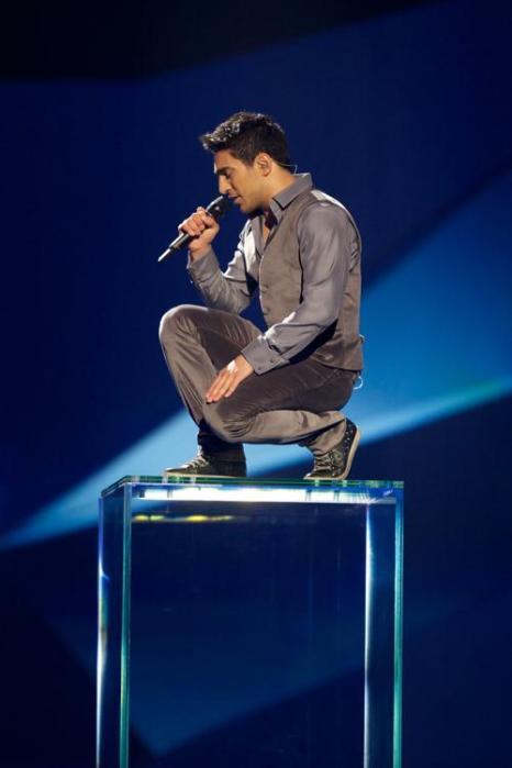 Фарид Мамедов из Азербайджана в финале Евровидения 2013. Фото: Ragnar Singsaas/Getty Images