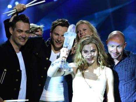 Эммили де Форест в финале «Евровидения-2013». Фото: JOHN MACDOUGALL/AFP/Getty
