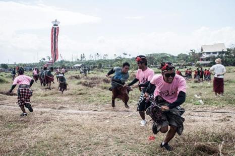 Фестиваль воздушных змеев прошёл на Бали 26 июля 2013 года. Фото: Putu Sayoga/Getty Images