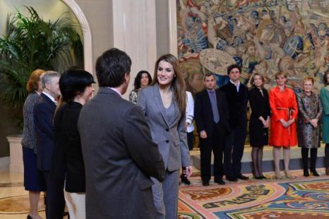 Принцесса Летиция посетила приём во дворце Zarzuela. Фото: Carlos Alvarez/Getty Images