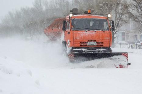 Снегопад в Абакане. Фото: Сергей Тугужеков/Великая Эпоха (The Epoch Times)