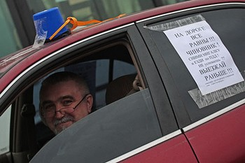 В Петербурге 22 и 23 апреля проводили акции протеста автомобилисты. Фото: baltinfo.ru