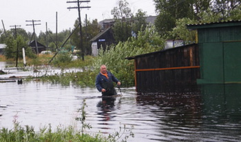Подтоплен поселок Новомихайловский. Фото: http://briansk.ru/