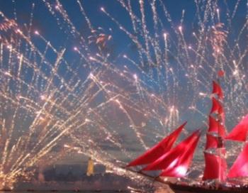 Выпускники в Петербурге устроили рекордный танцевальный флешмоб. Фото с сайта  news.rambler.ru