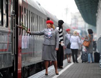 Посадка на поезд. Фото: ALEXANDER NEMENOV/AFP/Getty Images