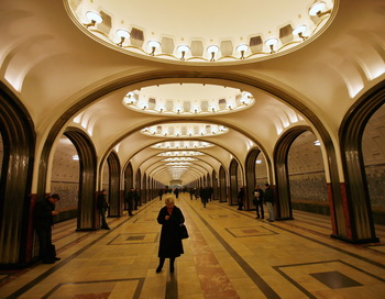 Станция метро, Москва. Фото: Harry Engels/Getty Images