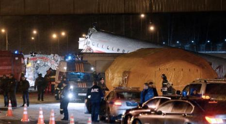 Фоторепортаж о крушении Ту-204 в аэропорту Внуково. Фото: KIRILL KUDRYAVTSEV/AFP/Getty Image