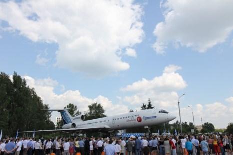 Открытие самолёта-памятника Ту-154 в Новосибирске. Фото: Сергей Кузьмин/Великая Эпоха (The Epoch Times)