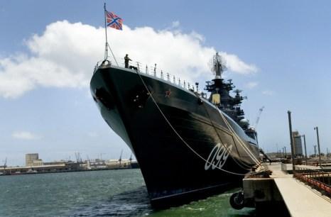 Атомный крейсер «Пётр Великий». Фото: RODGER BOSCH/AFP/Getty Images