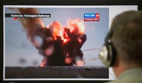 Виновников взрыва ракеты «Протон-М» проверят на полиграфе. Фото: NATALIA KOLESNIKOVA/AFP/Getty Images