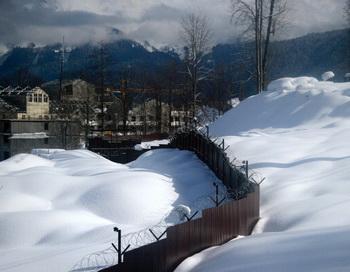 Сочи, 2012 год. Снег для олимпиады в Сочи запасли ещё с прошлой зимы. Фото: OLIVIER MORIN/AFP/Getty Images