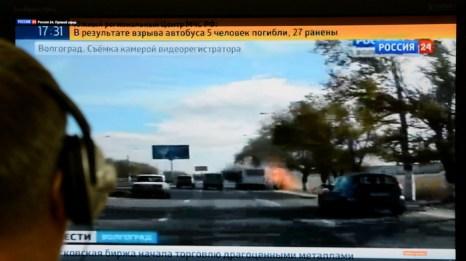 Теракт произошёл вчера, 21 октября, в Красноармейском районе Волгограда в пассажирском автобусе. Смертница Наида Асиялова взорвала себя при помощи пояса шахида. Мощность взрыва составила 2-3 кг в тротиловом эквиваленте. Фото: AFP/Getty Images