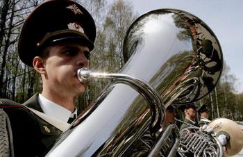 Первая «музыкальная рота» студентов вузов формируется в Западном военном округе. Фото: Dima Korotayev/Epsilon/Getty Images