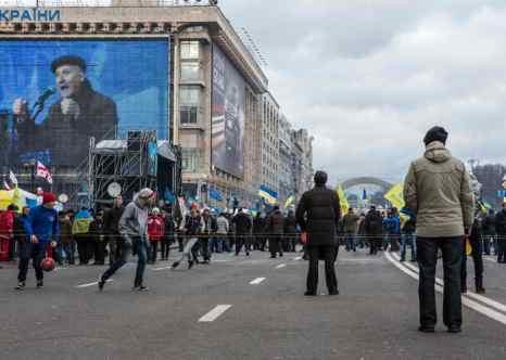 Киев. Здание Дома профсоюзов. Фото: Brendan Hoffman/Getty Images