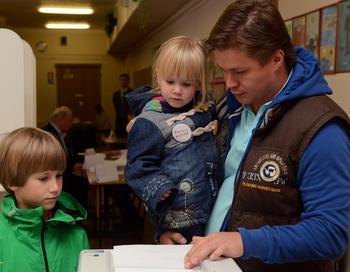 Голосование 8 сентября 2013 года. VASILY MAXIMOV/AFP/Getty Images