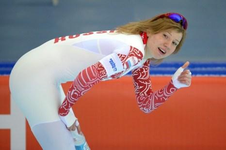 Конькобежка Ольга Фаткулина принесла России седьмую медаль. Фото: DAMIEN MEYER/AFP/Getty Images