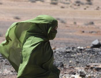 Жительница Сахары. Фото: DOMINIQUE FAGET/AFP/Getty Images
