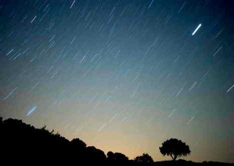 Метеоритный дождь можно наблюдать в ближайшие дни.Уже сегодня можно увидеть много падающих звезд. В отличие от других лет, на этот раз ночному наблюдению не помешает яркая Луна. Фото: Jorge Guerrero/AFP/Getty Images