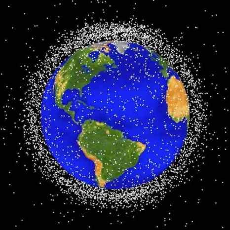 NASA. Графическое изображение космического мусора на низкой околоземной орбите. Фото: NASA/Getty Images
