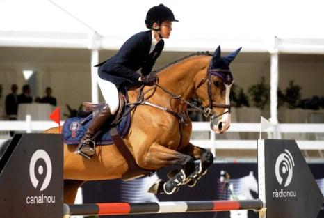 Принцесса  Шарлотта Казираги, дочь принцессы Монако Каролины, приняла участие в туре чемпионов  по скачкам. Фоторепортаж из   Валенсии.  Фото:  Xaume Olleros / JOSE JORDAN/AFP/Getty Images