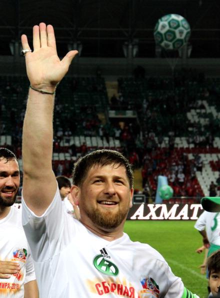 Звезды мирового футбола проиграли команде Рамзана Кадырова со счетом 5:2. Фоторепортаж  из Грозного. Фото: STR/AFP/Getty Images