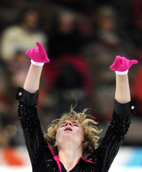 ЧЕ-2011.Артур Гачинский из России после короткой программы занял третье место. Фото: JOE KLAMAR/YURI KADOBNOV/AFP/Getty Images