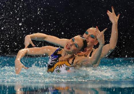 Синхронное плавание. Наталья Ищенко и Светлана Ромашина  выиграли золото. Фоторепортаж. Фото: JOHN THYS/AFP/GettyImages