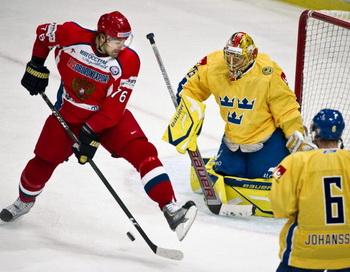 Сборная России по хоккею обыграла шведов в матче Евротура. Фото: Claudio BRESCIANI/AFP/Getty Images