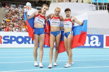 Сборная России стала лучшей в Европе по легкой атлетике. Фото: Alexander HASSENSTEIN, Stu FORSTER, Ian WALTON/Bongarts/Getty Images