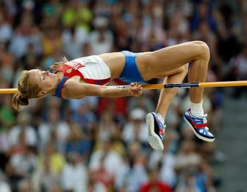 Светлана Школина выиграла международный турнир  в Швеции по легкой атлетике. Фото: Andy LYONS/Getty Images