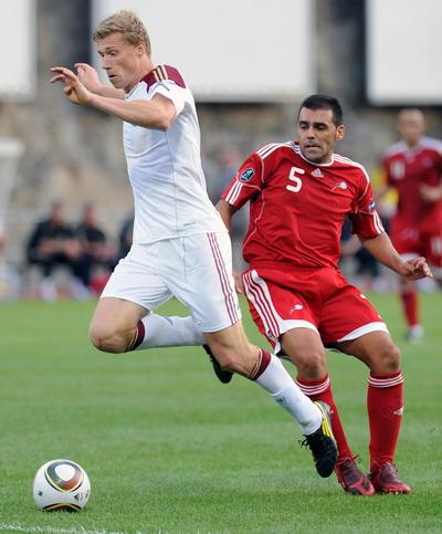 В матче  Андора – Россия дублем отметился Павел Погребняк.  Фото: PASCAL PAVANI/AFP/Getty Images