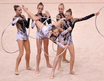 Российские гимнастки выиграли все золотые медали ЧЕ в Бремене. Фото: Kazuhiro NOGI/AFP/Getty Images