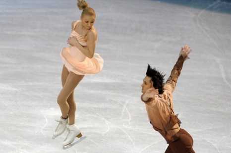 Мария Мухортова и Максим Траньков. Фото: JANEK SKARZYNSKI/AFP/Getty Images