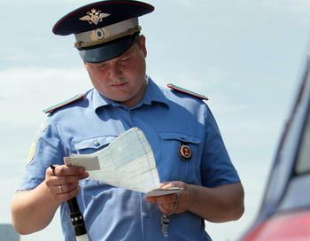 Работа инспекторов ГИБДД. Фото из архива РИА Новости