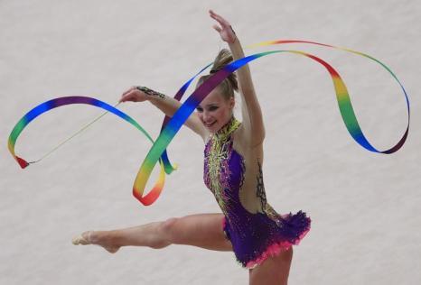 Романова Вероника из Латвии на Чемпионате Европы в командном зачёте. Фото: ALEXANDER KLEIN/AFP/Getty Images