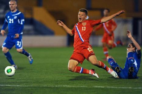 Российская футбольная команда победила Исландию. Фото: Jorge Guerrero/AFP/Getty Images
