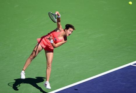 Мария Шарапова вошла в четвертьфинал турнира Индиан-Уэллса. Фото: FREDERIC J. BROWN/AFP/Getty Images