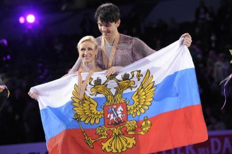 Волосожар и Траньков стали чемпионами мира. Фото: BRENDAN SMIALOWSKI/AFP/Getty Images