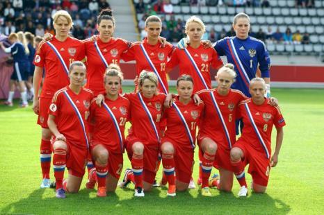 Женская сборная России по футболу, матч второго тура отборочного этапа чемпионата Европы 2013 в Линчепинге (Швеция) 15 июля 2013 года. Фото: Christof Koepsel/Getty Images