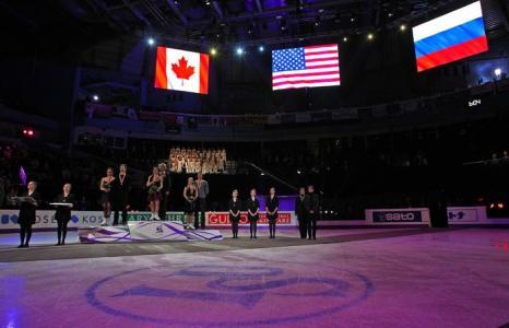 Боброва и Соловьёв завоевали «бронзу» на ЧМ по фигурному катанию. Фото: Dave Sandford/Getty Images