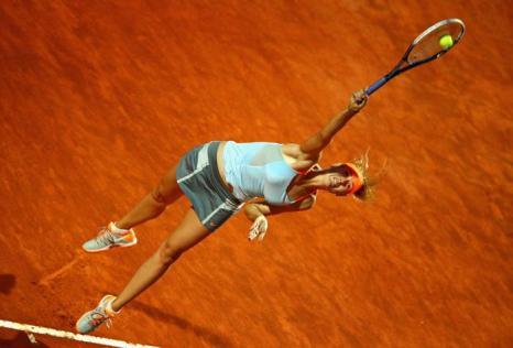 Мария Шарапова победила в матче с Слоан Стивенс и вышла в четвертьфинал турнира в Риме. Фото: Clive Mason/Getty Images
