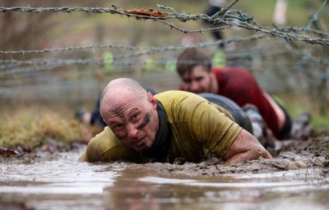 Гонки на выживание «Tough Guy-2013» 27 января 2013 года в Телфорде. Англия. Фото: Ian Walton / Getty Images