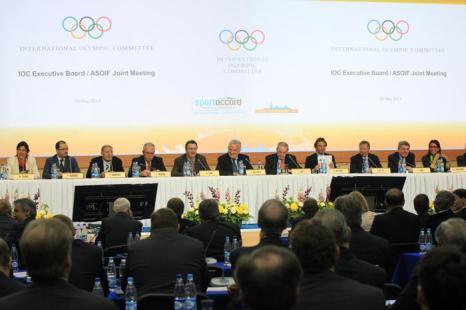 Заседание XI Международной конвенции «СпортАккорд» 29 мая 2013 года. Фото: -/AFP/Getty Images