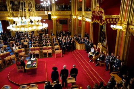 Фоторепортаж  об открытии 156-й сессии Стортинга в Норвегии. Фото: Ragnar Singsaas/Getty Images