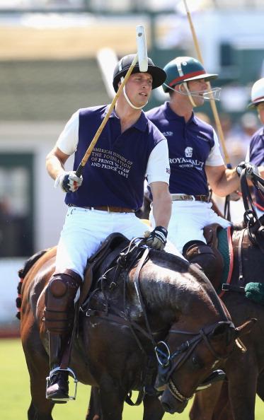 Герцог  и герцогиня  Кембриджские и в Санта-Барбаре на матче по конному поло. Фото: Chris Jackson/ROBYN BECK/AFP/Getty Images