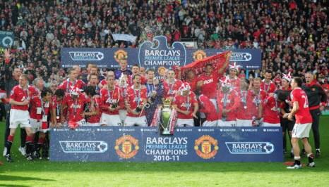 «Манчестер Юнайтед»  выиграл кубок  Премьер-лиги  чемпионата Англии. Фоторепортаж со стадиона  Old Trafford. Фото:  Dean Mouhtaropoulos/Getty Images