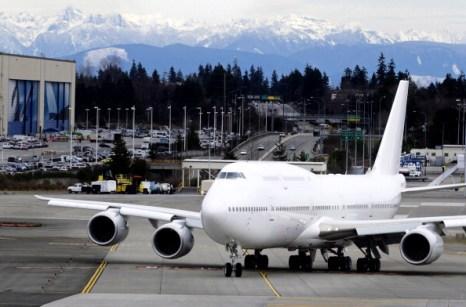 Самый большой самолет Boeing Delivers -747-8. Фоторепортаж. Фото: Stephen Brashear/Getty Images